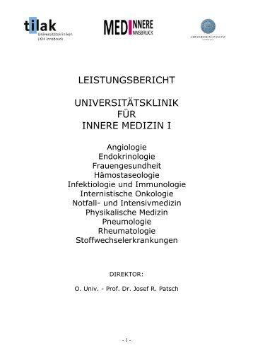 Angiologie Sprechstunde ambulant - Medizinische Universität ...