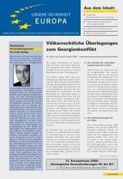 Völkerrechtliche Überlegungen zum Georgienkonflikt - AIES