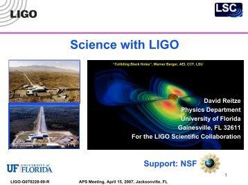 F - LIGO - Caltech