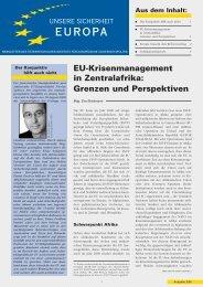EU-Krisenmanagement in Zentralafrika: Grenzen und ... - AIES