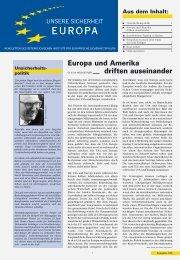 Europa und Amerika driften auseinander Aus dem Inhalt - AIES