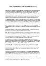 Kleine Chronik des Vereins Global Partnership Hannover e.V.