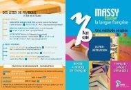 POUR TOUS RENSEIGNEMENTS - INFORMATIONS à MASSY ...