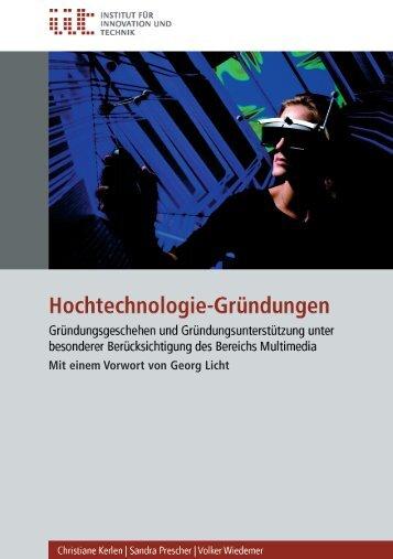 Hochtechnologie-Gründungen - VDI/VDE-IT