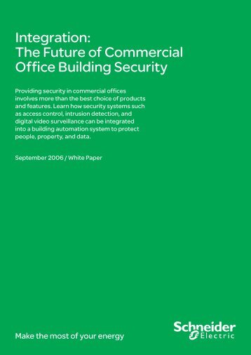 Integration: The Future of Commercial Office ... - Schneider Electric