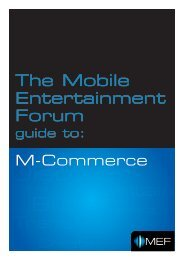 The MEF M-Commerce Guide is now available to download.