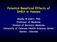 Potential Beneficial Effects of DHEA in Humans