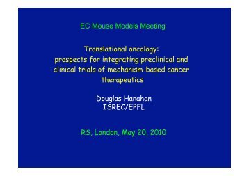 Translational Oncology: Prospects For Integrating Preclinical - casimir