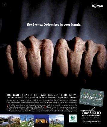 The Brenta Dolomites in your hands. - Campigliodolomiti.it