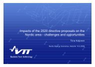 Impacts of the 2020 directive proposals on the Nordic area ...