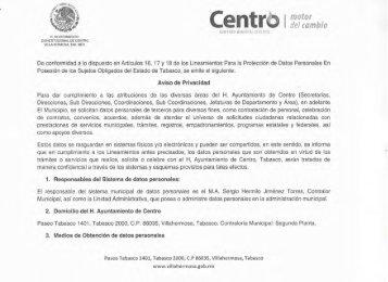 Centr - H. Ayuntamiento de Centro