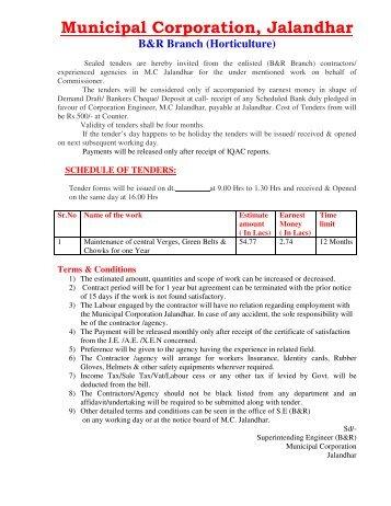 B&R Branch (Horticulture) - Municipal Corporation Jalandhar
