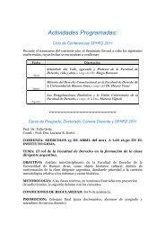 Actividades Programadas 2011 - Facultad de Derecho - Universidad ...