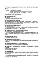 Referat fra afdelingsmøde for Bentsens Gård - Boligselskabet Sct ...