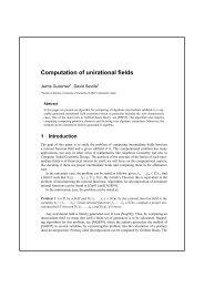 Computation of unirational fields