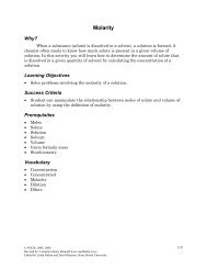Classifying Types of Chemical Reactions Why? - Pogil