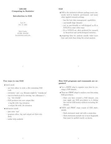 Lecture 18 10/17/12 - Mathematical Sciences Home Pages