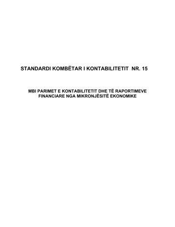 Mbi Parimet e Kontabilitetit dhe te Raportimeve Financiare nga ...
