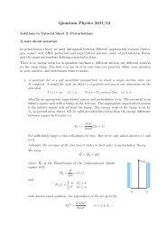 Quantum Physics 2011/12