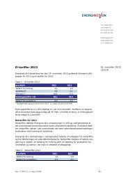 El-tariffer 2013 - Energinet.dk
