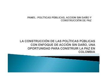 LA CONSTRUCCIÓN DE LAS POLÍTICAS PÚBLICAS CON ... - Bivipas