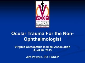 lecture part 1 in pdf - Virginia Osteopathic Medical Association