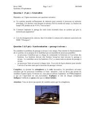 Question 5 (4.5 pts) - Cours