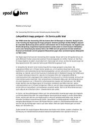 Medienmitteilung des vpod bern kanton zum Budget 2014 vom 22 ...
