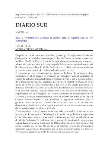 diario sur - Plataforma Nacional de Afectados por la Ley de Costas ...