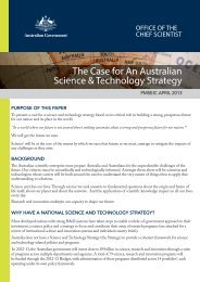 The case for an Australian science & technology strategy