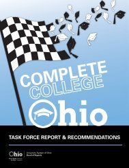 Complete College Ohio Task Force: Report & Recommendations