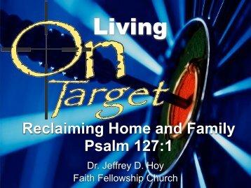 Dr. Jeffrey D. Hoy - Faith Fellowship Church