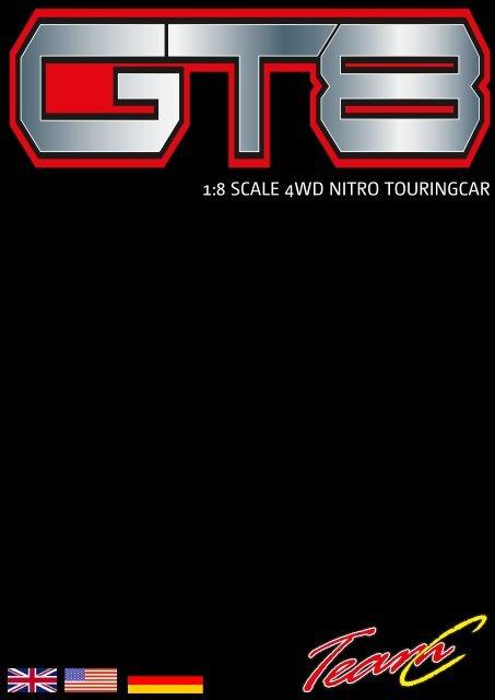 1:8 SCALE 4WD NITRO TOURINGCAR - Absima