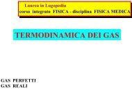 TERMODINAMICA DEI GAS - INFN