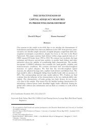 the effectiveness of capital adequacy measures in predicting bank ...