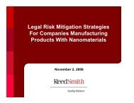 Legal Risk Mitigation Strategies For Companies ... - Reed Smith