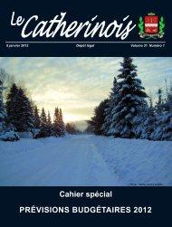 Cahier spécial PRÉVISIONS BUDGÉTAIRES 2012 - Ville de Sainte ...