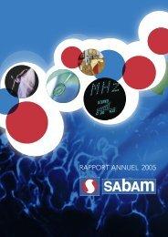 Rapport annuel 2005 - Sabam
