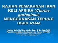 KAJIAN PEMAKANAN IKAN KELI AFRIKA (Clarias ... - seafdec.org.my