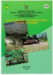 Plan de Manejo Forestal del Bosque Nacional Alexander Von ... - ITTO