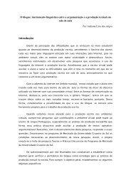 O blogue- instrumento linguistico de mediação entre a ...