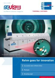 Rehm goes for innovation - Rehm Group