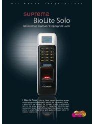 Standalone Outdoor Fingerprint Lock