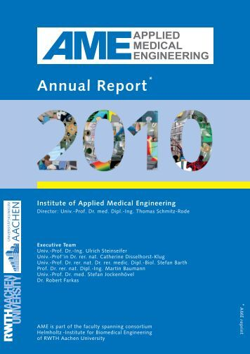 Annual Report * Institute of Applied Medical Engineering