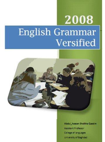 EngLish grammar VErsiFiEd