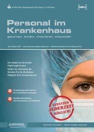 Person Kranke Personal im Krankenhaus - Fauth-Herkner & Partner
