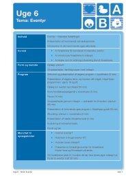 Uge 6 Tema: Eventyr - Socialstyrelsen