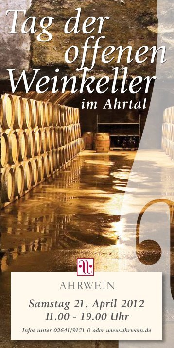 Tag der offenen Weinkeller - Ahrwein eV