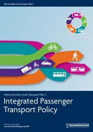 Integrated Passenger Transport Policy - Worcestershire County ...