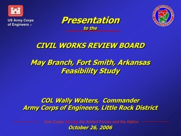 CWRB Briefing Slides - U.S. Army Corps of Engineers